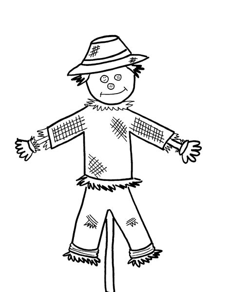 free printable scarecrow template free printable scarecrow coloring pages for
