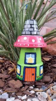 garden gnome house clay pot yard garden decoration