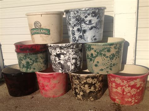 acrylic paint on plastic pots upcycled flower pots using rangeland mineral tubs plastic