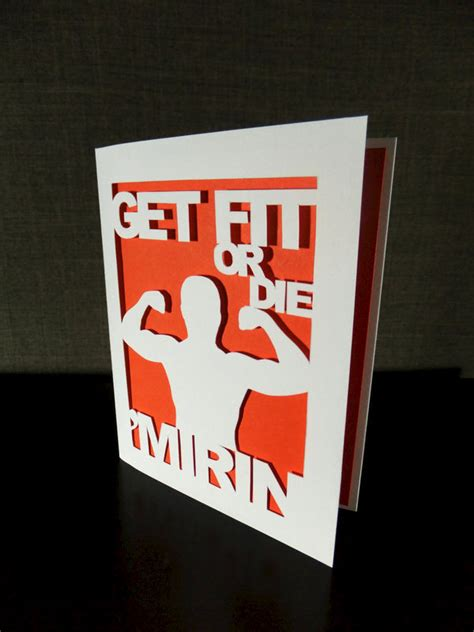 Gym Gift Cards - get fit or die mirin funny greetin card fitness lover gift workout fitfam musclehead