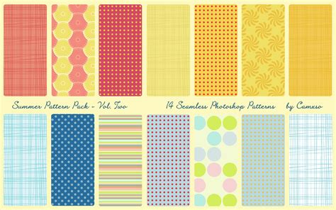 pattern free website summer pattern pack vol 2 by camxso on deviantart