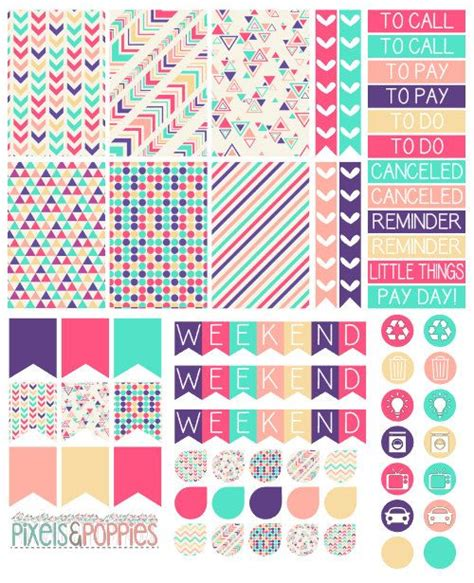 printable stickers pdf 73 aztec theme stickers planner stickers by