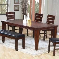 Dark brown dining room set casual dinette sets