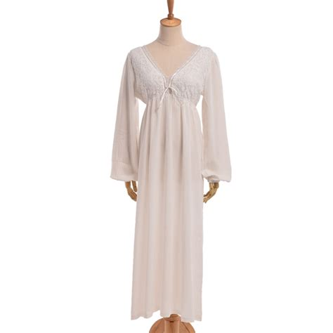 vintage nightgowns womens vintage pajamas women sexy white lace nightgown vintage style v neck long