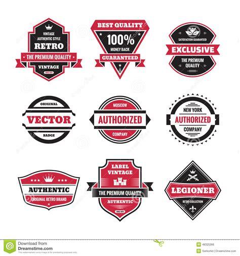 vintage classic design label elements vector graphic badges collection original vintage badges