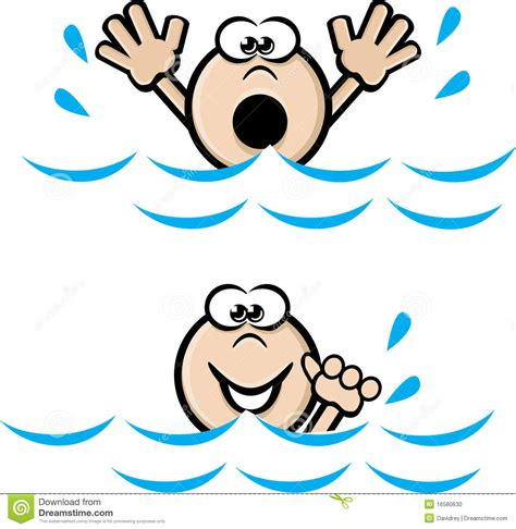 can t can t swim clipart