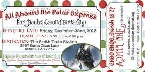 polar express boarding pass invitation by pumpkinseedpaperie
