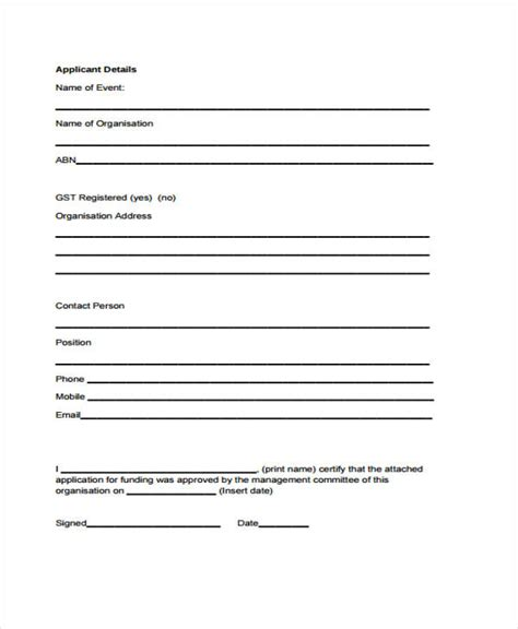 event application form template 30 event evaluation form templates