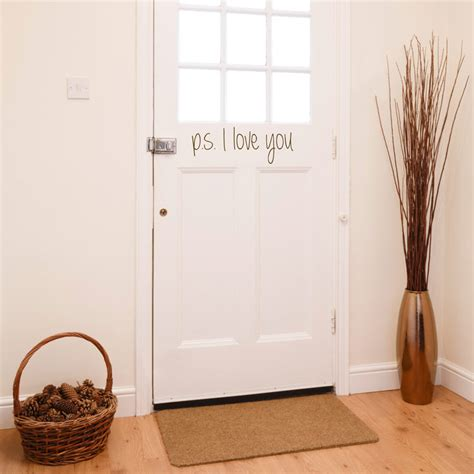 Entryway Decals ps i you door entryway foyer quote wall decals stickers