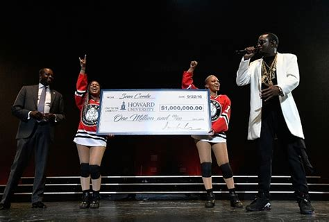 Howard Mba Scholarship by Quot Diddy Quot Combs Pledges One Million Dollars To His Alma
