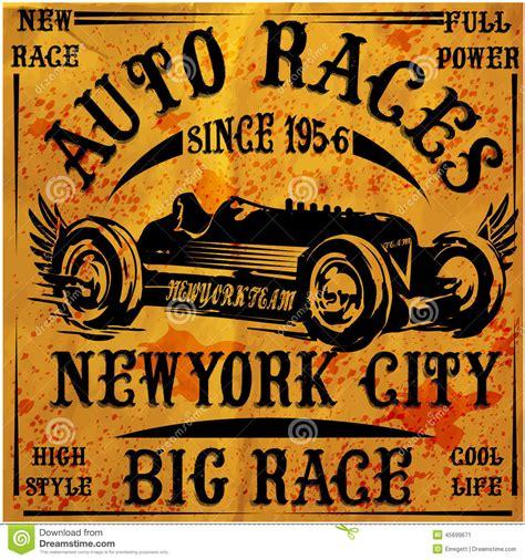 Free 2 Car Garage Plans Retro Classic Car Vintage Graphic Design Stock Vector
