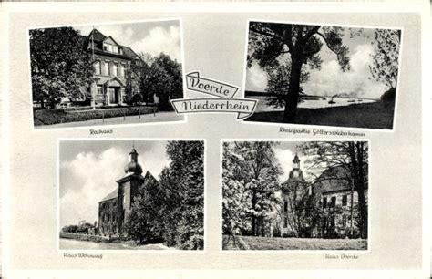 haus wohnung voerde ansichtskarte postkarte voerde niederrhein rathaus
