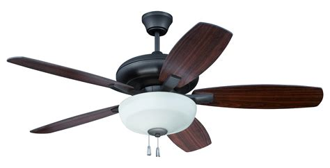 craftmade espresso ceiling fan with blades and light kit