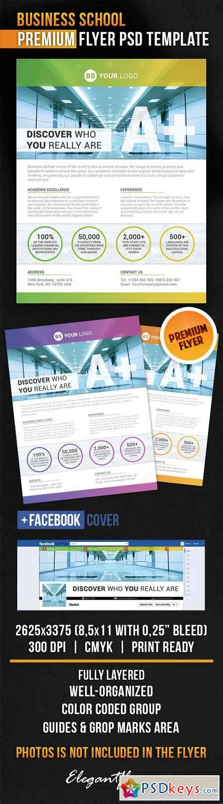 business school flyer psd template facebook cover