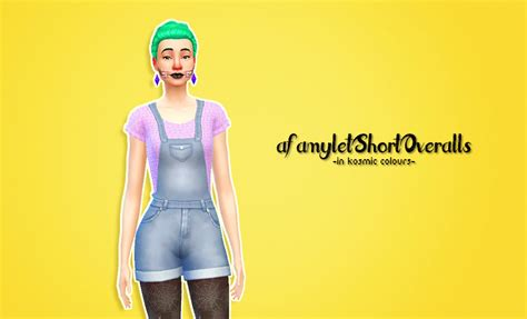sims 4 overall shorts my sims 4 blog amylet short overalls and sentate daphne