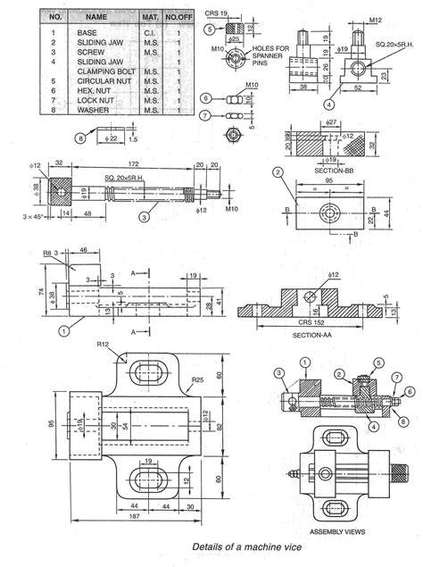 machine_vice.jpg (1880×2520) | Mechanical drawings