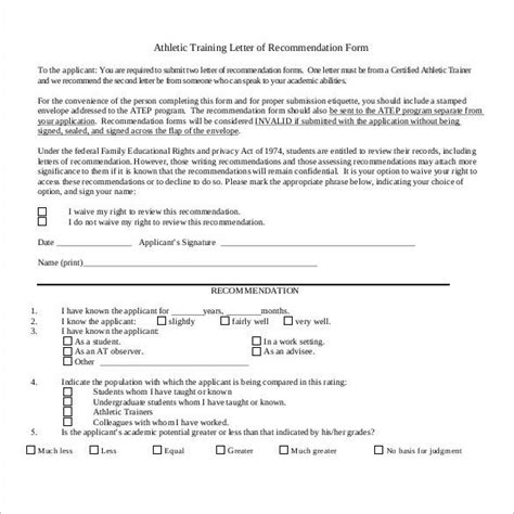 Athletic Scholarship Letter Of Intent Sle Letter Of Recommendation For A Student Athlete