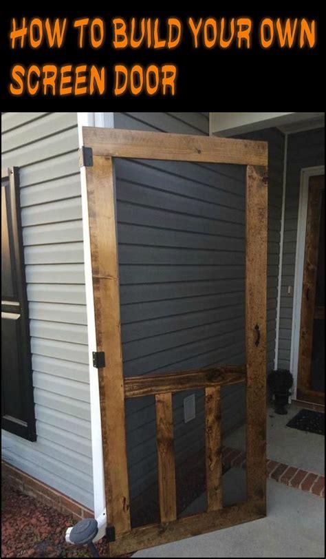 wood screen door ideas  pinterest