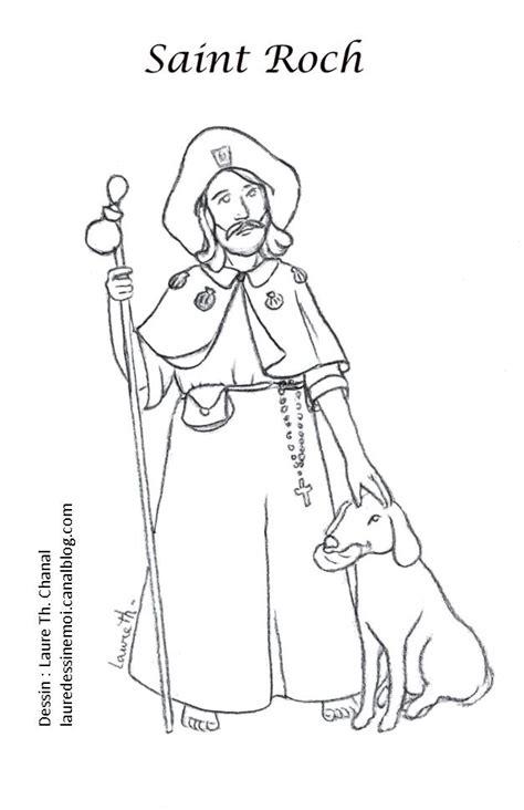 saint roch catholic coloring page catholic saints