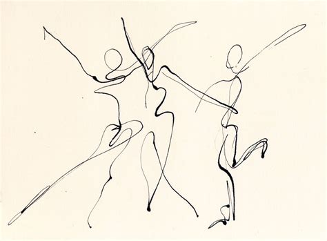 doodle line drawings 3 dancers line drawing chris artist dip pen ink web