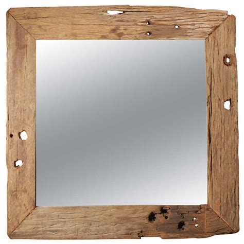 wood framed mirrors rustic wall mirrors milwaukee large rustic wood framed mirror at 1stdibs