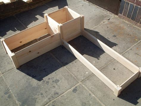 How To Make A Raised Planter by Corner Wooden Timber Raised Planter Bed Grow Your Own