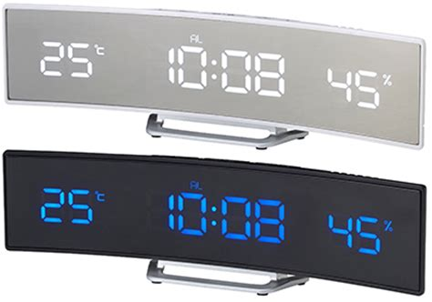 kaminorth shop with automatic correction wave bind bar led clock white led blue led black