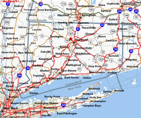printable connecticut road map connecticut maps and state information