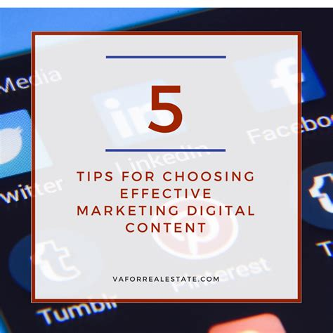 Tips For Choosing A Secondary 5 Tips For Choosing And Marketing Digital Content