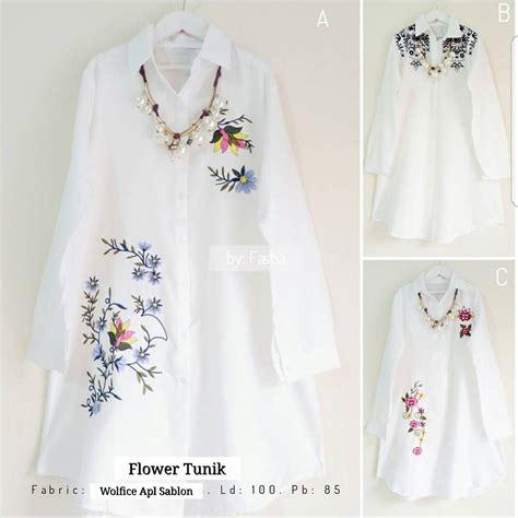 grosir baju murah flower tunik grosir baju muslim