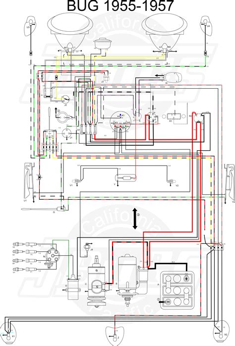 vw tech article 1955 57 wiring diagram