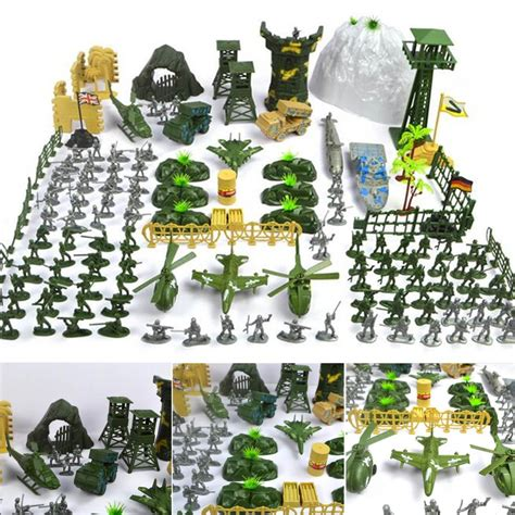 150 Pcs Diy Toys new arrival 150 pcs set plastic soldier army figures accessories playset kit