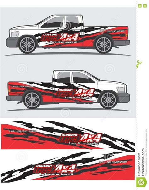 Car Design Sticker Vector Graphics by Truck And Vehicle Decal Graphic Design Vector Illustration