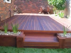 backyard decking shamrock landscaping and design