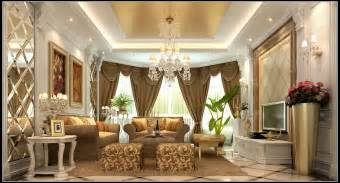 Home Design 3d Gold Windows by Luxurious Living Room With Curtains 3d Model Max