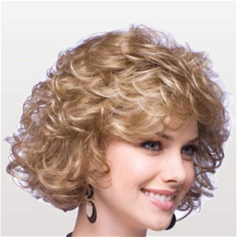 on how to do a curly dressy chin lenght hairstyle 14 quot chin length curly with bangs from wigshairs com