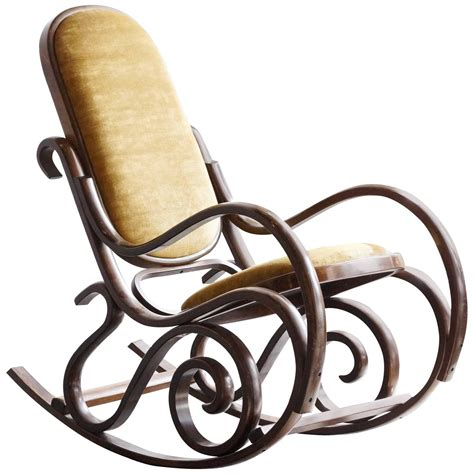 thonet bentwood rocking chair rocking chairs interior thonet style bentwood rocking chair at 1stdibs