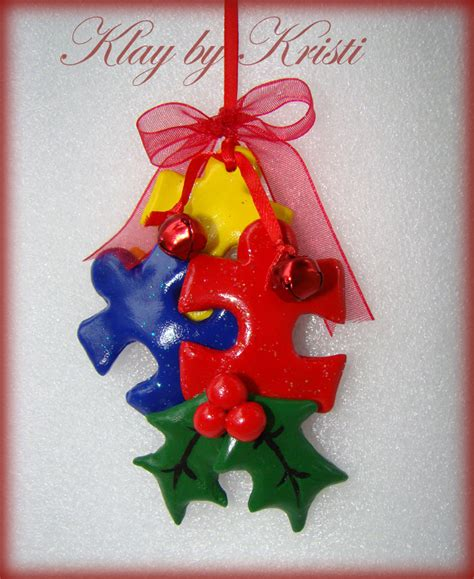autism awareness christmas puzzle piece ornament great