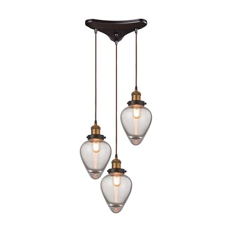 Elk Pendant Lights Elk Lighting 16325 3 Pendant Lighting Bartram
