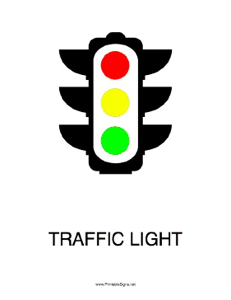 printable traffic light sign