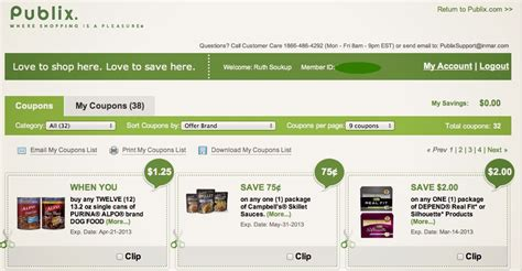 printable grocery list publix publix digital coupons the good the bad the nitty