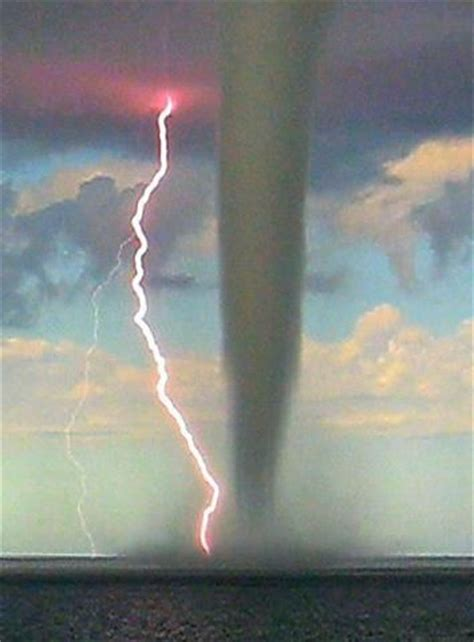 Waterspout With Lightning by Lightning Tornados And New World Order On