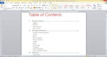 word 2013 table of contents template best photos of design business plan templates