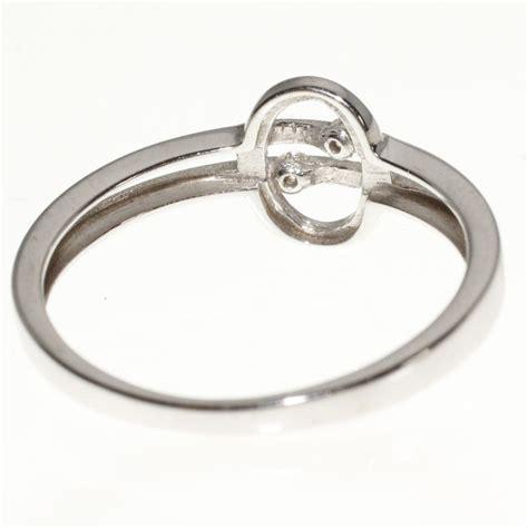 modern 585 14k white gold ring catawiki