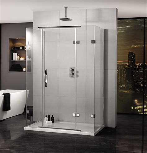3 Door Shower Doors Aquadart Inline 900 X 800mm 3 Sided Hinged Door And Side Panels Aq1034