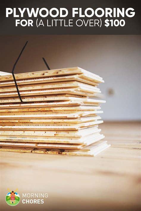 DIY Cheap Farmhouse Plywood Flooring for (a Little Over