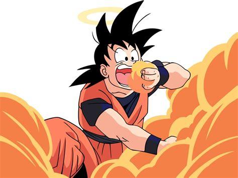 imagenes de goku alegre dragon ball