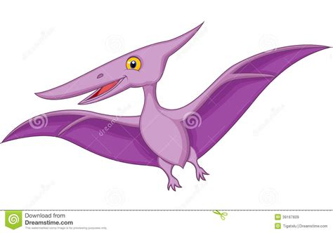 clipart picture happy pterodactyl stock vector image 39167609