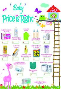 See price is right baby shower free template price right baby shower