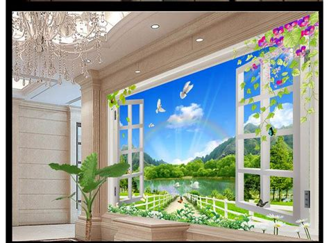 where to buy wall murals aliexpress buy customized 3d wallpaper 3d wall murals wallpaper nature landscape 3d stereo